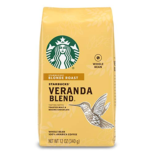 Starbucks Veranda Blend Light Blonde Roast Whole Bean Coffee, 12-Ounce Bag