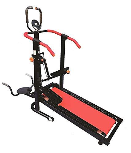 Monex 4 in 1 Manual Jogger Treadmill| Roller Jogging Machine for Home| Foldable Tread Mill|...