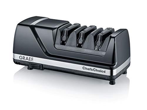 Graef CX125DE Messerschärfer, 75, Diamantscheiben, schwarz