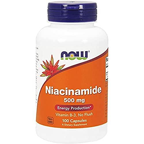 Now Foods, Niacinamide (Vitamin B3), Flush-frei, 500mg, 100 Kapseln