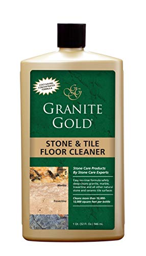 Granite Gold Cleaner Streak-Free No-Rinse Deep Cleaning for Granite, Marble, Travertine, Ceramic Tile, Natural Stone Floors-Made in the USA, 32 Ounces