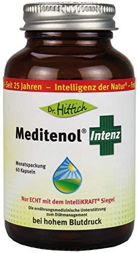 Meditenol® Intenz - 60 Olivenöl-Kapseln mit Vitamin B6 und Olivenblatt Extrakt Benolea. Die ernährungsmedizinische Unterstützung zum Diätmanagement bei erhöhtem Blutdruck – Von Dr. Hittich