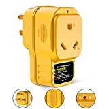 EyGde 30 Amp Surge Protector for RV, RV Circuit Analyzer Power Defender 30 Amp Male to 30 Amp Female, 2100 Joules for Camper Trailer