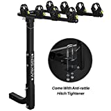 Arksen Premium 4-Bike Carrier Rack Hitch Mount Swing Down Bicycle Rack With 2-Inch Receiver
