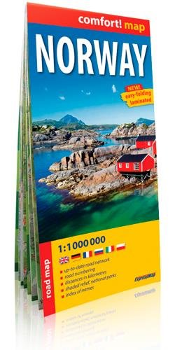 Noruega 1:1.1000.000 mapa plastificado. ExpressMap. (Comfort ! Map)