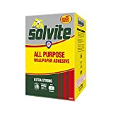 Solvite All-Purpose Wallpaper Adhesive, Reliable Adhesive for Wallpaper, All-Purpose Adhesive with Long-Lasting Results, Wallpaper Paste hangs up to 20 Rolls (2 x 10 Roll Sachets)