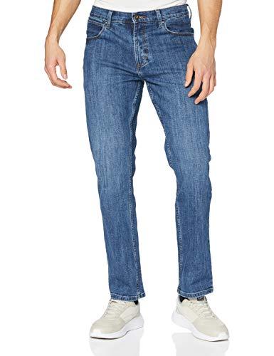 Wrangler Authentic Straight Jeans, Blu (Mid Stone 14V), 34W / 32L Uomo