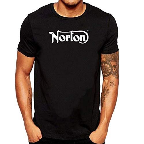 SEVENSIQI Norton Logo Hombre Short Sleeve Neck Camiseta/T Shirt Black