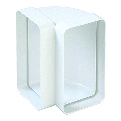 Curva 120x60 Per Aerazione Canalizzata Cappa Cucina Di Tipo Verticale per Tubo Rettangolare in Pvc Colore Bianco