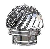 200mm Chapeau de Cheminée Rotatif 'Acier Inoxydable' Extracteur de...