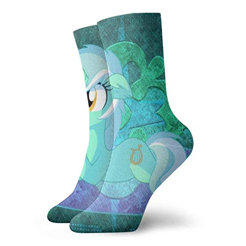 Lsjuee Cartoon Anime My Little Rainbow Pony 2 paia di calzini Crew Divertente Casual Unisex Adulto Uomo 'S & Women' S Kids Anime Printing Athletic Ankle Sock Cool 90 'S