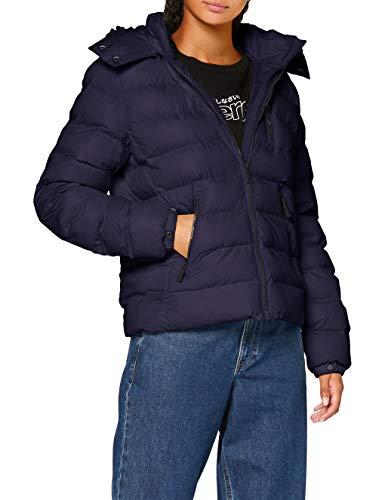 Superdry Summer Microfibre Jacket Chaqueta, Azul (Atlant Navy Gkv), S (Talla del fabricante:10) para Mujer