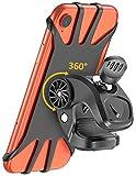 Cocoda Support Téléphone Vélo, Support Téléphone Moto, Rotatif à 360° Réglable Silicone Moto Bicyclette Support Vélo du Guidon pour Tous Les 4.7''-6.5'' Smartphone