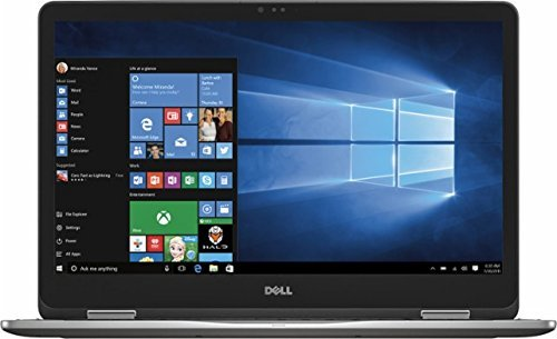 "Top Performance Dell 7000 Series Inspiron 2-in-1 17.3"" Touch-Screen FHD IPS Laptop, Intel Core i7-7500U, 16GB DDR4 RAM, 1TB HDD, Dedicated Graphics 2GB, Backlit Keyboard, Bluetooth, HDMI, Windows10"