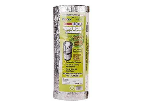 Water Heater Blanket Insulation, 'NON FIBERGLASS', Fits up to 80 Gallons, Energy Star Certified,