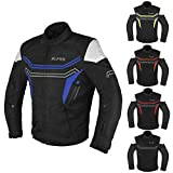 JAYEFO-ALPHA CYCLE GEAR MOTORCYCLE ALL SEASON JACKET (BLUE, LARGE)