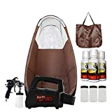 MaxiMist Lite Plus Pro HVLP Sunless Spray Tanning KIT with Tent, Machine and Solution (Brown)
