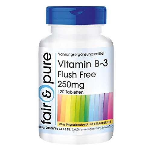 Vitamina B3 in compresse 250mg Flush Free - Vegan - 120 Compresse