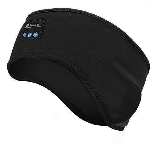 Linkax Auriculares para Dormir, Bluetooth V5.0 Deportes Diadema,Deportiva Banda Auriculares con Ultrafinos HD Estéreo Altavoces,Perfectos para Deportes, Dormir de Lado, Viajes Aéreos y Relajación