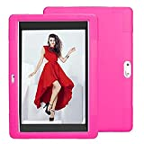 Wecool 10.1 inch Android Tablet Case, Soft Silica Shell Cover fit for YELLYOUTH 10.1,Plum Optimax 10,Lectrus 10,Victbing 10,Hoozo 10,Yuntab 10.1 (K107/K17),Winsing 10,LLLCCORP 10 (Rose red)