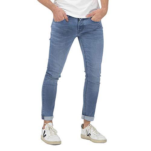 Kuyichi Herren Jeans Jamie Bio-Baumwolle, Skylar Blue, 30/34