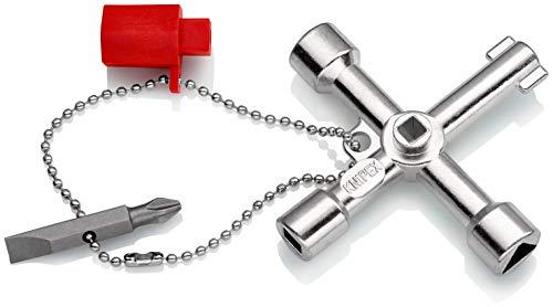 KNIPEX 00 11 03 Chiave universale per quadri ed armadi elettrici per tutti i sistemi di chiusura pi...