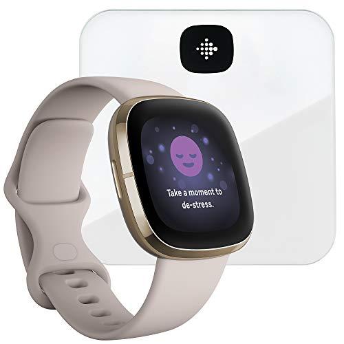 Fitbit Sense, la montre connectée intelligente pour la santé et Aria Air Balance intelligente via des outils pour la suivi cardiaque, la gestion du stress & l'évolution de la température cutanée
