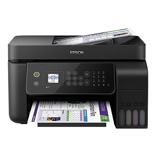 Epson EcoTank ET-4700 Stampante Multifunzione Inkjet a Colori 4-in-1, Stampa, Scansione, Copia, Fax, Funzionalit ADF ed Ethernet, LCD da 3.7 cm, Nero