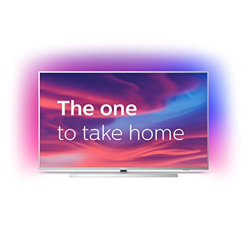 Philips Ambilight 70PUS7304/12 Fernseher 178 cm (70 Zoll) Smart TV (4K, LED TV, HDR 10+, Android TV, Google Assistant, Alexa kompatibel, Dolby Atmos) Hellsilber
