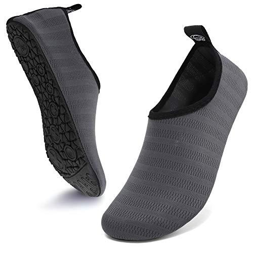 Deevike, scarpe da spiaggia, da nuoto, da yoga, ad asciugatura rapida, per uomo e donna, (Grigio Lxy.), 46 EU