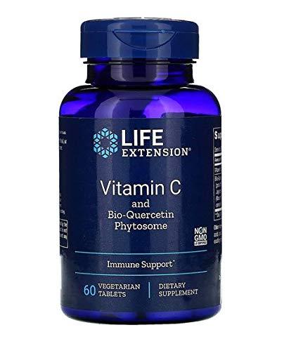 Life Extension, Vitamin C, mit Bio-Quercetin Phytosome, 1.000 mg, 60 vegetarische Tabletten