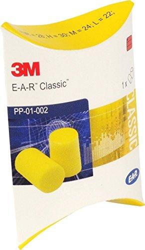 3M EAR Classic, lot de 50 paires de bouchons d'oreilles emballées par...