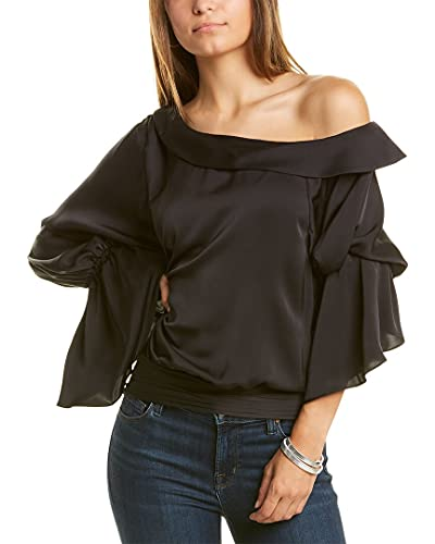 41HsTBK SAS. SL500 Off one shoulder Sleeves with elastic Satin fabric