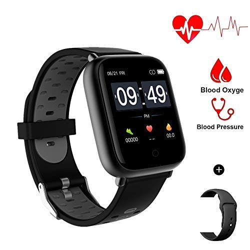 Aeifond Smart Watch Fitness Tracker Compatible Android iPhone iOS Samsung, Healthy Exercise Smartwatch IP67 Waterproof Activity Tracker Heart Rate Blood Pressure (Grey)