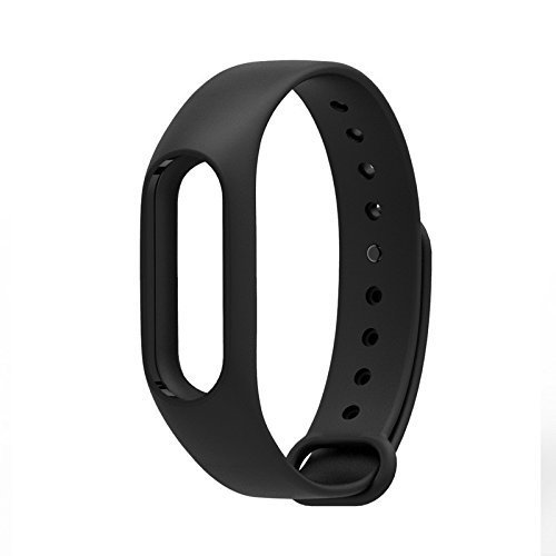 Techonto Replacement Band Strap for Xiaomi Mi Band 2 / Xiaomi MI Band HRX Edition/Xiaomi Mi Band HRX Version (Device not Included) (Black)