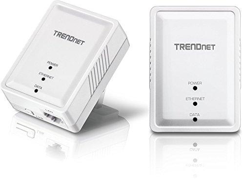 TRENDnet Powerline 500 AV Nano Adapter Kit, TPL-406E2K, Includes 2 x TPL-406E Adapters, Cross Compatible with Powerline 600/500/200,Windows 10, 8.1, 8, 7, Vista, XP, Ethernet Port, Plug & Play Install