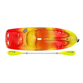 "Perception Kayaks Hi Five | Sit on Top Kids Kayak for Kids up to 120 Lbs.| Youth Kayak with Paddle | 6' 6"" | Sunset"