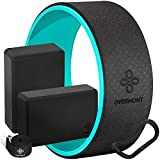 Overmont 5-in-1 Set, 1 Yoga Wheel for Back Pain- 13x 5in, 2 EVA Foam Yoga Blocks with Strap, 1...