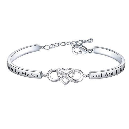 FEELMEM Daughter-in-Law Gift Bracelet You were Hand Chosen...