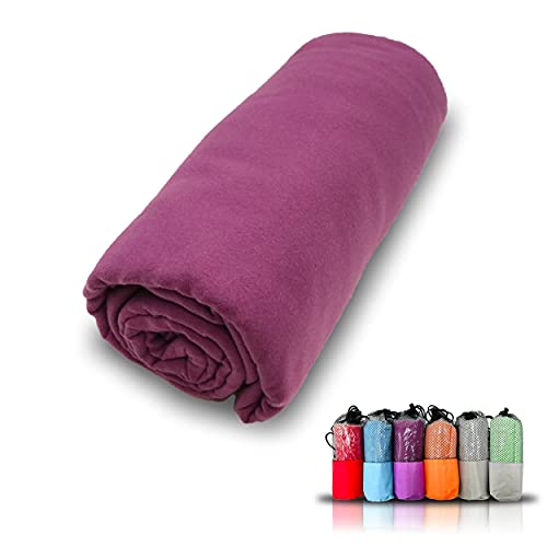 Serviette en microfibre, séchage super rapide, serviette de sport, de gym,...