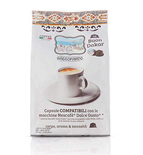 TO.DA 96 Capsule Caffè Gattopardo Dolce Dakar Compatibile Nescafè Dolce Gusto