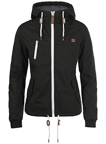DESIRES Tilda Damen Übergangsjacke Jacke gefüttert mit Kapuze, Größe:XL, Farbe:Black (9000)
