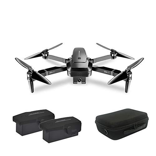 elegantstunning Vi-suo Zen K1 - Drone quadricottero Pieghevole con Doppia Fotocamera, Senza spazzole, Zoom Ottico HD, 4 K, con Custodia Doppia Batteria.
