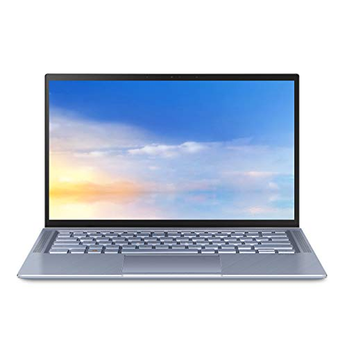 "ASUS ZenBook 14 Ultra Thin and Light Laptop, 4-Way NanoEdge 14"" FHD, Intel Core i7-10510U, 8GB RAM, 512GB PCIE SSD, NVIDIA GeForce MX250, Windows 10 Home, Utopia Blue, UX431FL-EH74"