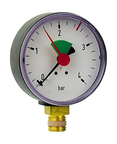 Sanitop-Wingenroth 27169 1 Rohrfeder-Manometer, Anschluss von unten-1/4...