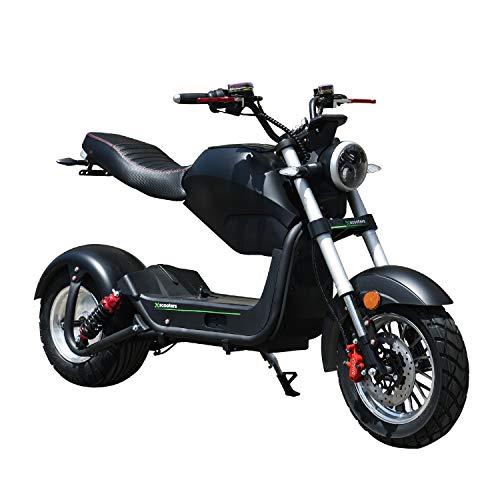 Patinete eléctrico 1500 W Fat Tire CityCoco, velocidad máxima 40 km/h, patinete todoterreno, batería de larga distancia de 60 V, patinete eléctrico para adultos con permiso de circulación