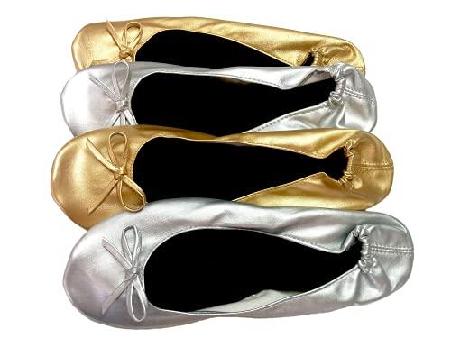 Bailarinas de Boda Plata y Oro Pack de 10 Pares
