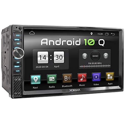 XOMAX XM-2VA777 Autoradio mit Android 10, Quad Core, 2GB RAM, 32GB ROM, GPS...