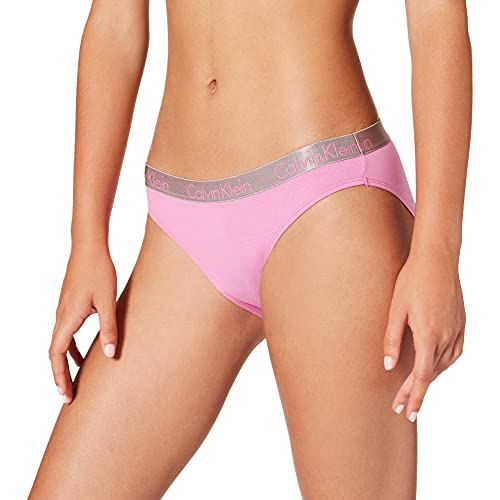 Calvin Klein Bikini Ropa Interior, Lluvia Lila, L para Mujer