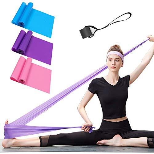 ERUW Bandae Elastiche Fitness, Set di 3 Banda Elastica Fasce Resistenza Fascia Elastica Esercizi Ideale per Terapia Fisica, Yoga, Pilates, Riabilitazione Allenamento a casa